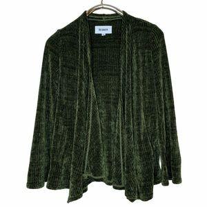 BB Dakota Forest Green Chenille of Fortune Sweater